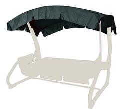 фото Тент-крыша для садовых качелей (с дугообразной крышей)