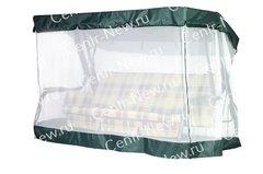 фото Чехол-москитная сетка 2в1 для садовых качелей Элит (с прямой крышей)