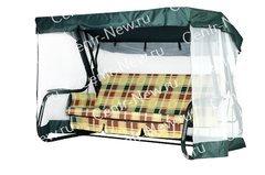 фото Чехол-москитная сетка 2в1 для садовых качелей Нирвана с прямой крышей)
