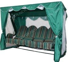 фото Тент-шатер для садовых качелей ТПРНАДО +10 (с прямой крышей)