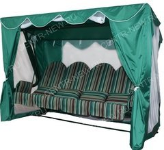 фото Тент-шатер для садовых качелей ЭЛИТ ЛЮКС ПЛЮС (с прямой крышей)