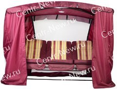 фото Тент-шатер для садовых качелей ЗОЛОТАЯ КОРОНА (с дугообразной крышей)