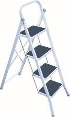 фото Стремянка 4 ступени + коврик резиновый (серая)