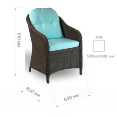 Размер №1 Кресло РОЗА