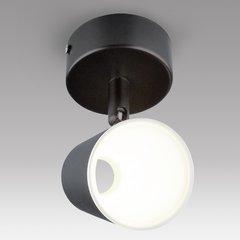 фото Светодиодный настенный светильник с поворотным плафоном DLR025 черный матовый