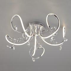 фото Светодиодный потолочный светильник с хрусталем 90106/5 хром