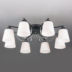 фото Потолочная люстра со стеклянными плафонами 70094/8 черный
