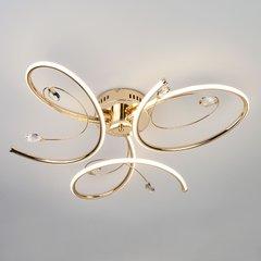 фото Светодиодный потолочный светильник 90099/3 золото