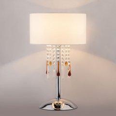 фото Настольная лампа с хрусталем 01097/1 Strotskis