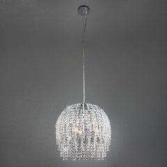 фото Подвесной светильник с хрусталем 10091/3 хром/прозрачный хрусталь Strotskis
