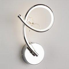 фото Настенный светодиодный светильник с хрусталем 90089/1 хром