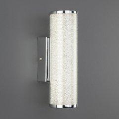 фото Светодиодный настенный светильник с хрустальной крошкой 90060/1 хром