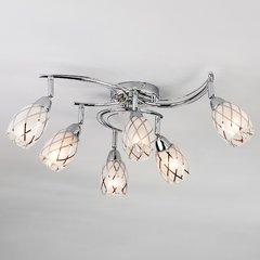 фото Потолочный светильник с поворотными плафонами 30128/6 хром