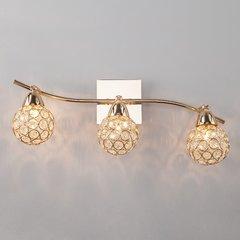 фото Настенный светильник с хрусталем 20042/3 золото