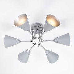 фото Потолочный светильник с поворотными рожками 70052/6 серый/серебро