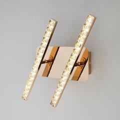 фото Светодиодный настенный светильник с хрусталем 90041/2 золото