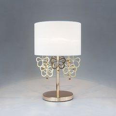 фото Настольная лампа с белым абажуром 01095/1