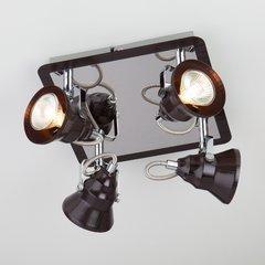 фото Потолочный светильник с поворотными плафонами 20062/4 хром/венге