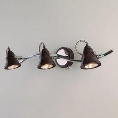 фото Настенный светильник с поворотными плафонами 20062/3 хром/венге