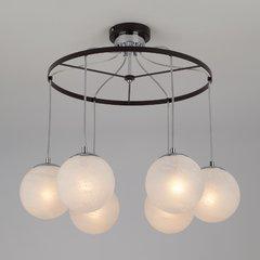 фото Подвесной светильник в стиле лофт 70069/6 хром/черный