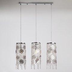 фото Подвесной светильник с хрусталем 10083/3 хром / прозрачный хрусталь
