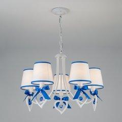 фото Подвесная люстра с абажурами 60066/5 белый/синий
