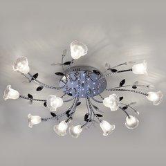 фото Люстра потолочная со светодиодной подсветкой 80114/12 хром/белый