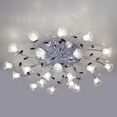 фото Люстра потолочная со светодиодной подсветкой 80114/21 хром/белый
