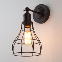 фото Настенный светильник в стиле лофт 50062/1 черный