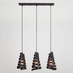 фото Подвесной светильник в стиле лофт 50058/3 черный