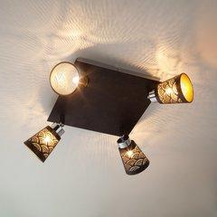 фото Потолочный светильник с поворотными плафонами 20061/4 черный