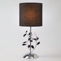 фото Настольная лампа с абажуром 01017/1 хром
