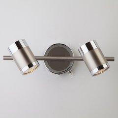 фото Настенный светильник с поворотными плафонами 20058/2 перламутровый сатин