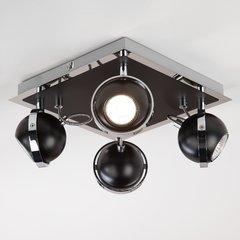 фото Потолочный светильник с поворотными плафонами 20056/4 черный
