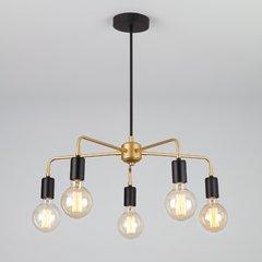 фото Подвесной светильник в стиле лофт 70053/5 черный/золото