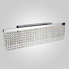фото Светодиодный настенный светильник с хрусталем 90049/1 хром