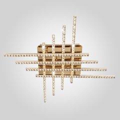 фото Светодиодный потолочный светильник с хрусталем 90041/8 золото