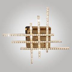 фото Светодиодный потолочный светильник с хрусталем 90041/6 золото