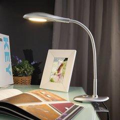 фото Светодиодная настольная лампа 90198/1 серебристый