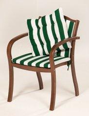 фото Кресло деревянное с матрацами и подушкой