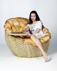 """фото Кресло сизалевое """"Омега"""" со столиком"""