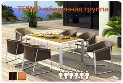 Фото №2 Обеденный комплект мебели из ротанга TESNO-202420