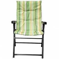 Фото №2 Кресло складное Зеленое (полоска)