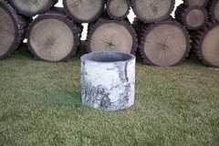 Фото №4 Горшок-цветочница вертикальный береза L
