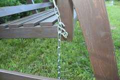 Фото №5 Деревянные садовые качели