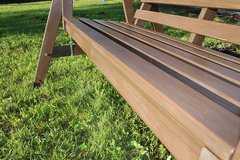 Фото №7 Деревянные садовые качели