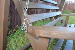 Фото №9 Деревянные садовые качели