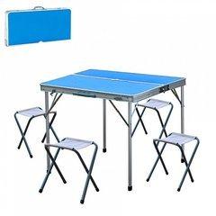 фото стол складной с 4-мя стульями НТО6-0039/5