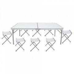 Фото №2 стол складной с 8-ю складными стульями НТО9-0059/9