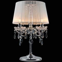 фото Настольная лампа 2045/3T хром/белый